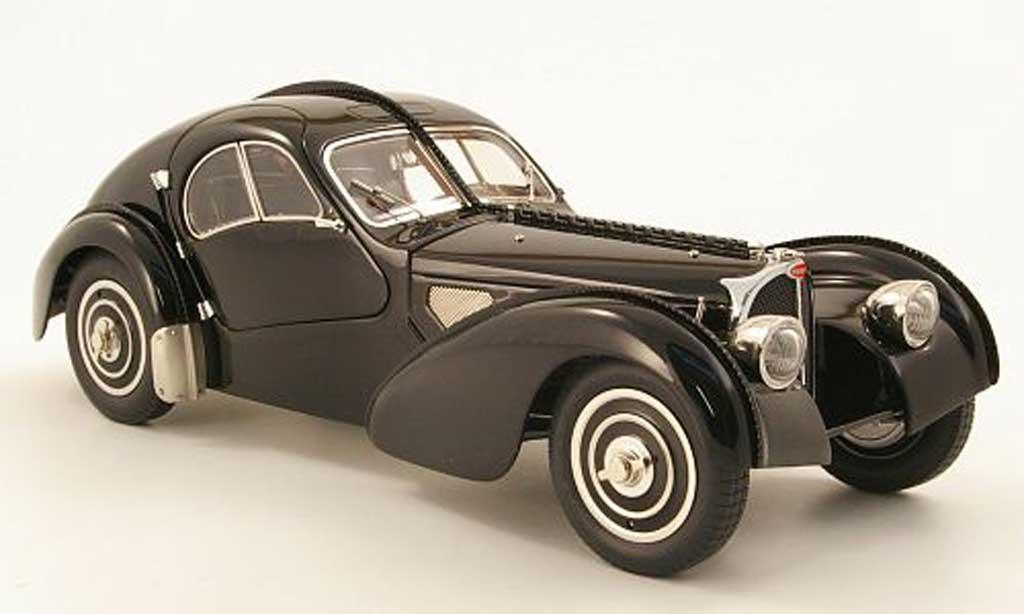 Bugatti 57 SC 1/18 CMC atlantic coupe noire 1938 chassis-nr. .591 miniature
