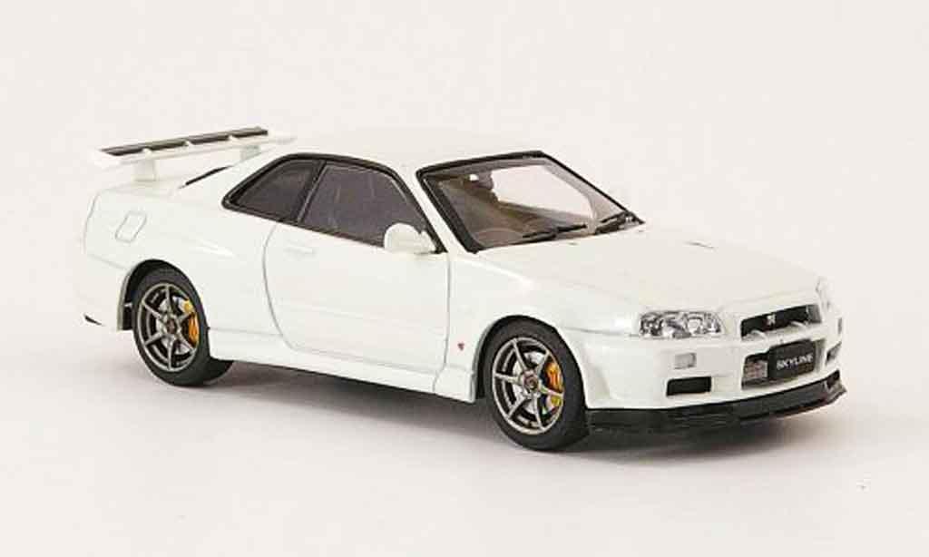 Nissan Skyline R34 1/43 Ebbro GT R V Spec II blanche 2001 02 miniature