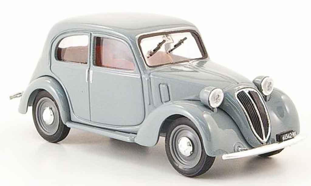 Fiat 1100 1937 1/43 Brumm (508 c.) Nuova Balilla grise miniature