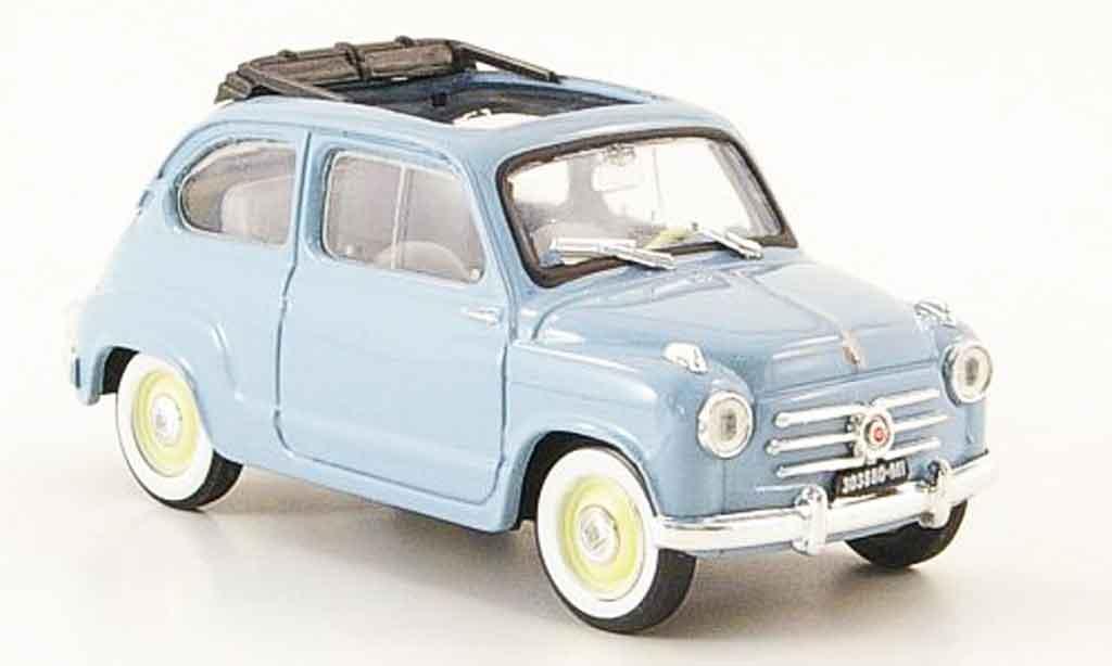 Fiat 600 1/43 Brumm (Serie 1) grisebleu offen 1956 miniature