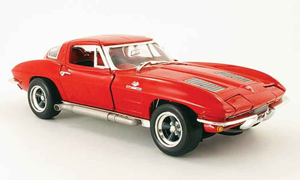 Chevrolet Corvette C2 1/18 Johnny Lightning rouge 1963 miniature