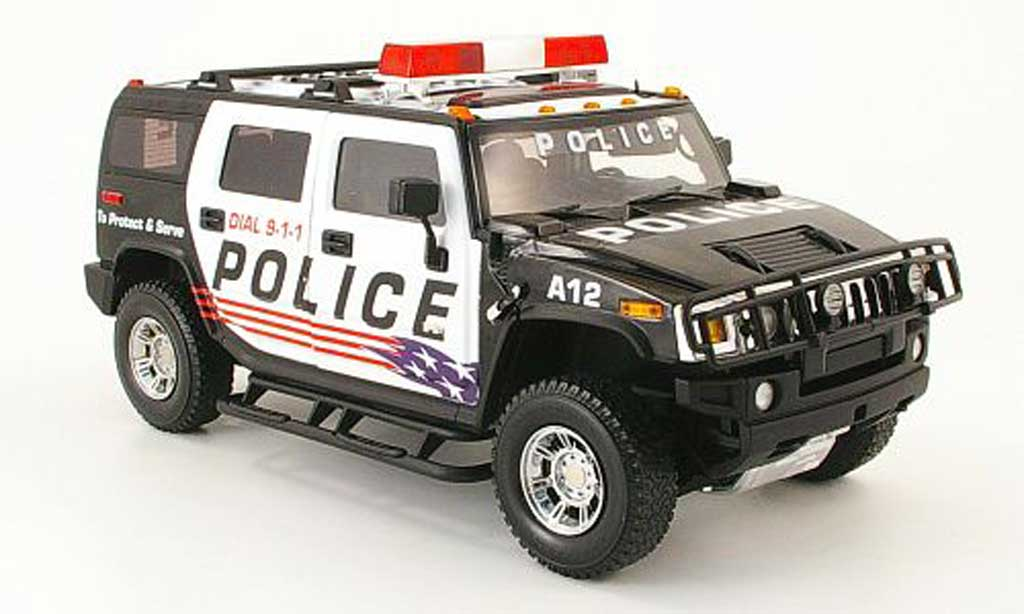 Hummer H2 1/18 Highway 61 police polizei usa diecast model cars