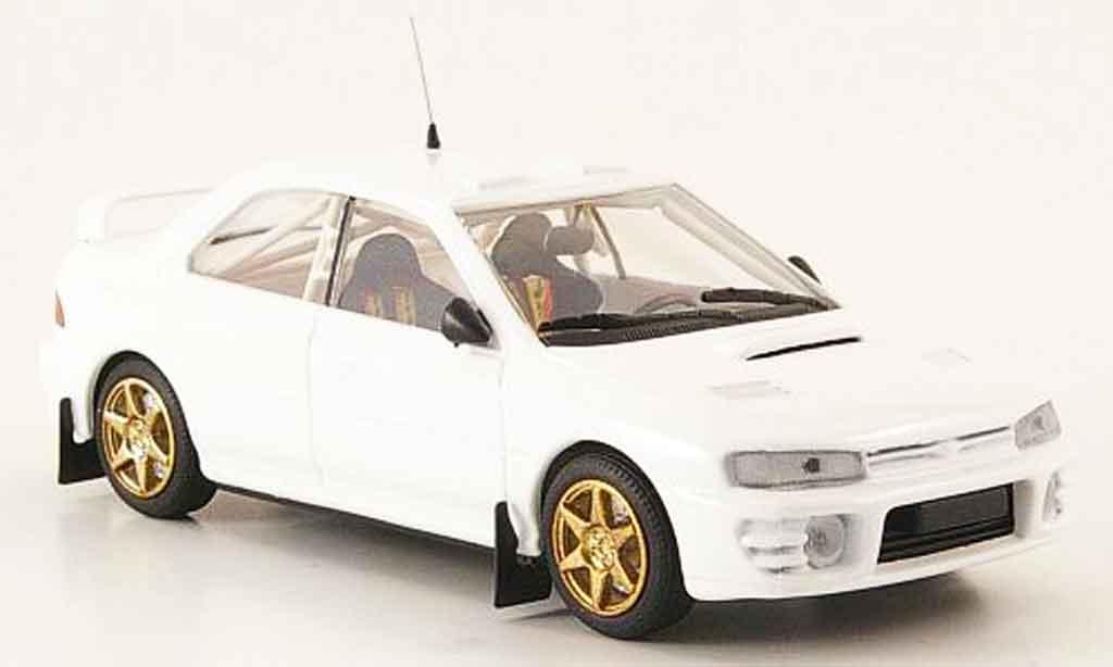 Subaru Impreza 1/43 Mini Partes white diecast model cars