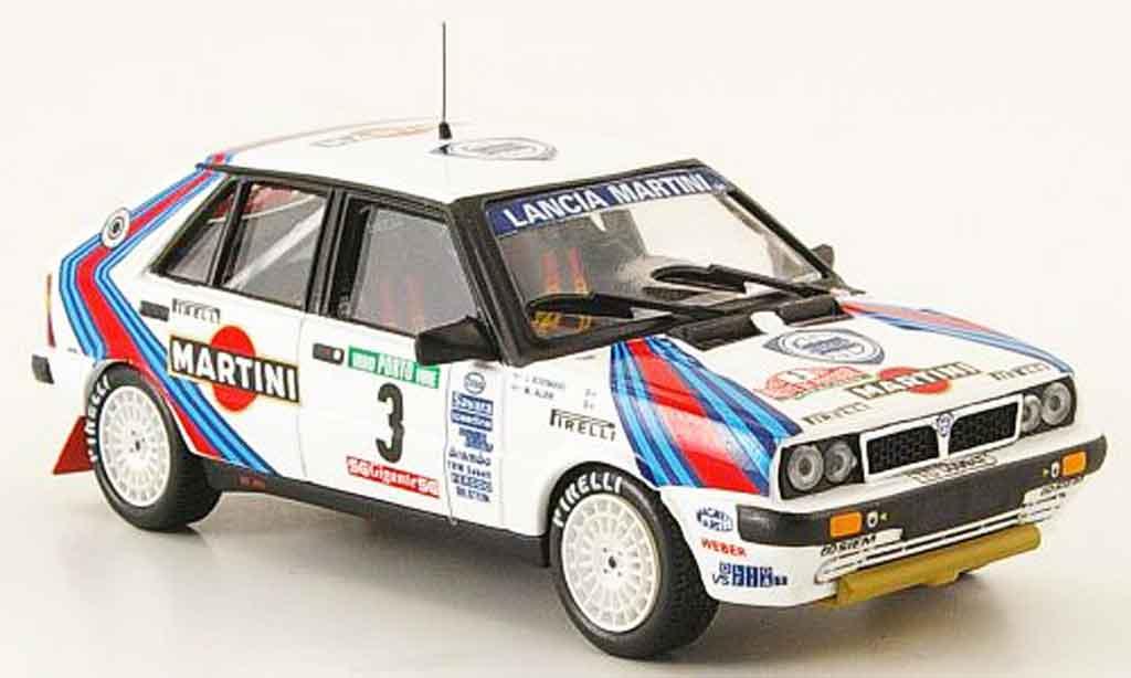 Lancia Delta HF Integrale 1/43 Mini Partes 8v no.3 sieger rallye portugal 1987 miniature
