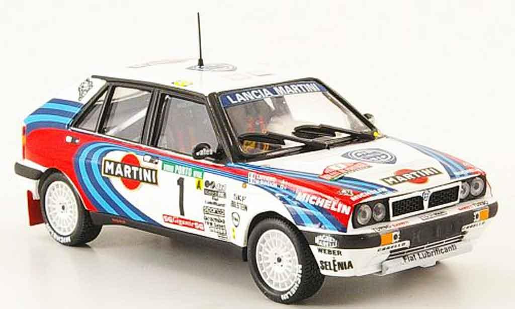 Lancia Delta HF Integrale 1/43 Mini Partes 16v no.1 sieger rallye portugal 1990 modellino in miniatura