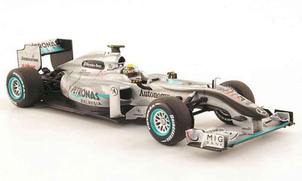 Mercedes F1 2010 1/43 Minichamps GP Petronas MGP W01 No.4 miniature