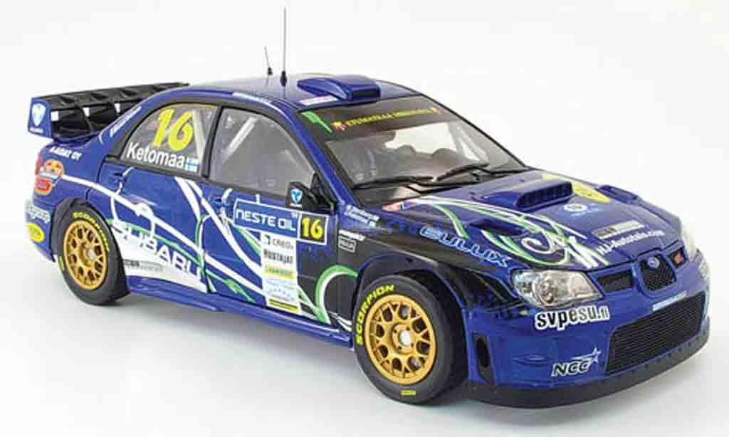 Subaru Impreza WRC 1/18 Sun Star 07 no.16 rallye finlande 2009 modellino in miniatura