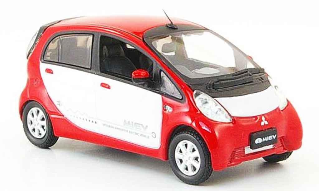 Mitsubishi iMiev 1/43 Vitesse rouge blanche miniature