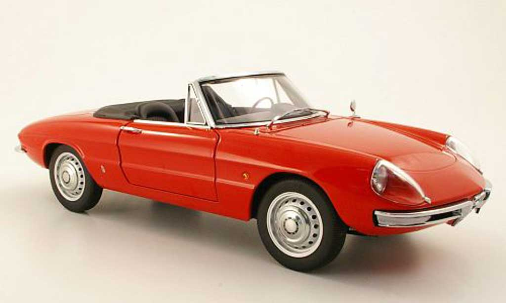 Alfa Romeo 1600 1/18 Autoart Duetto Spider red 1966 diecast