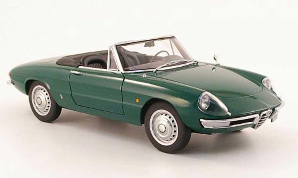 Alfa Romeo 1600 1/18 Autoart duetto spider green 1966 diecast