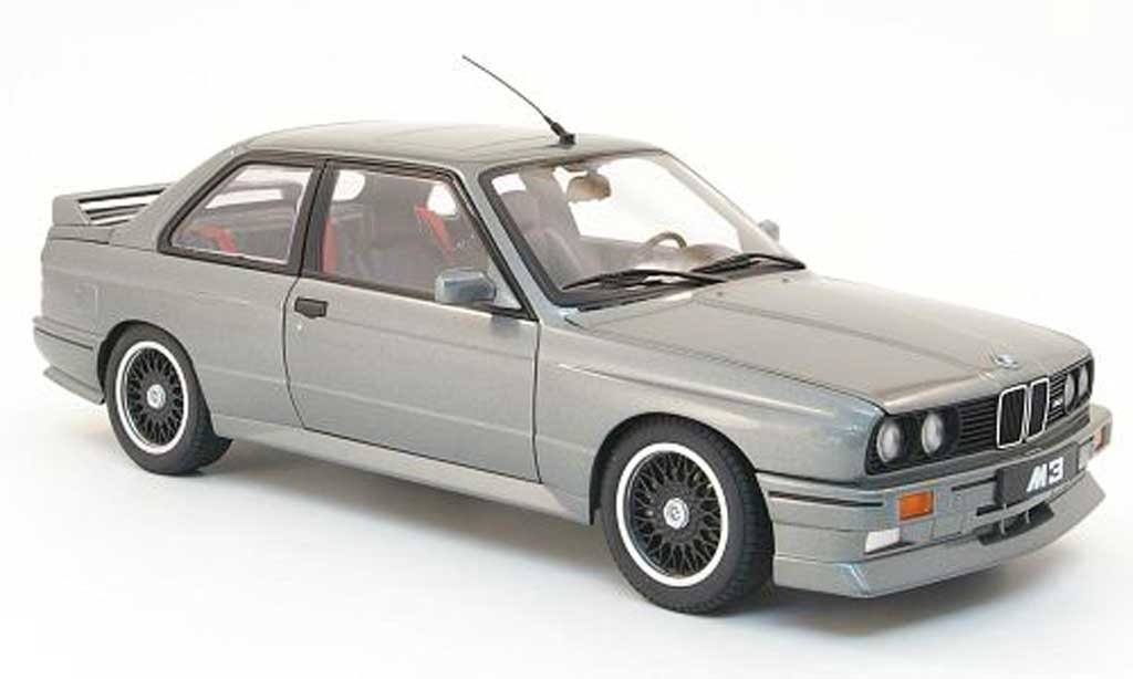 Bmw M3 E30 1/18 Autoart evolution cecotto edition gris 1989 miniatura