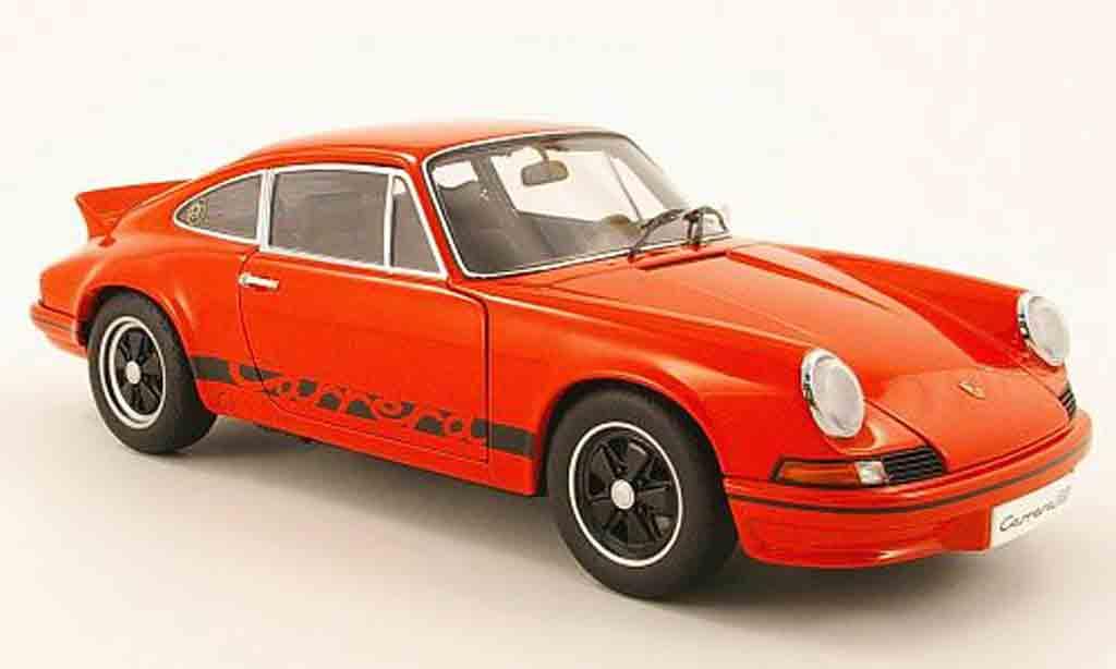 Porsche 911 RS 1/18 Autoart carrera 2.7 rouge/noire 1973 miniature