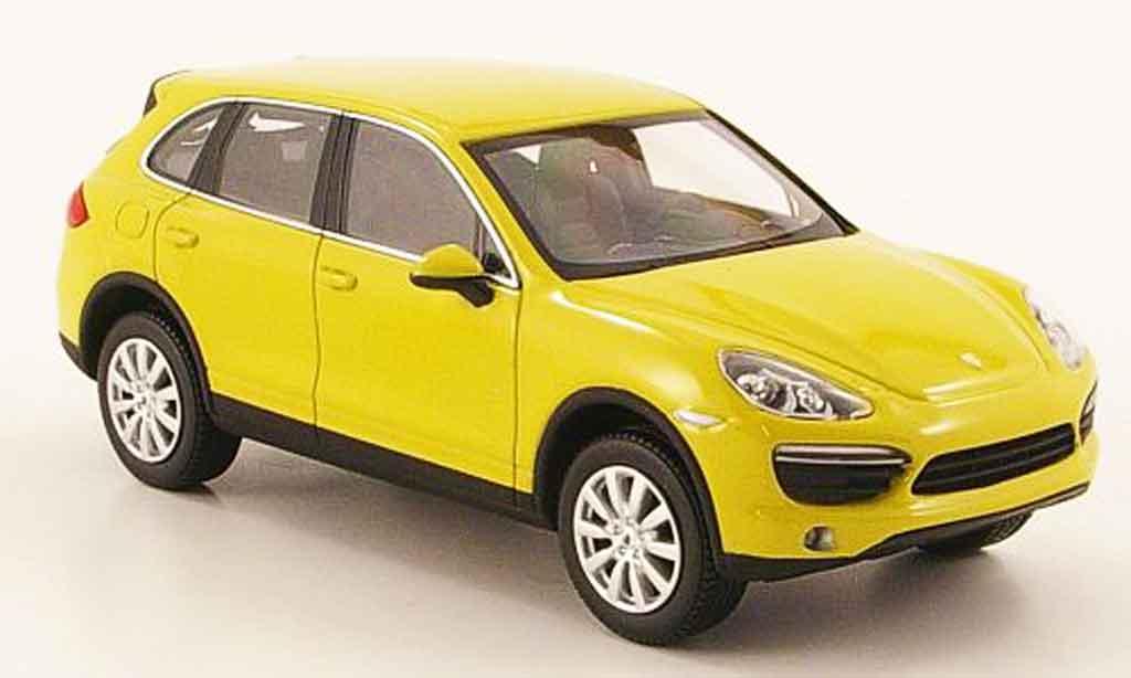 Porsche Cayenne S 1/43 Minichamps jaune 2010 miniature
