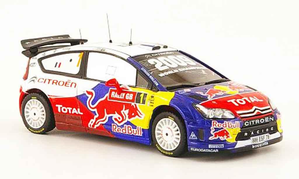 Citroen C4 WRC 2009 1/43 IXO no.1 total sieger wales gb rallye miniature