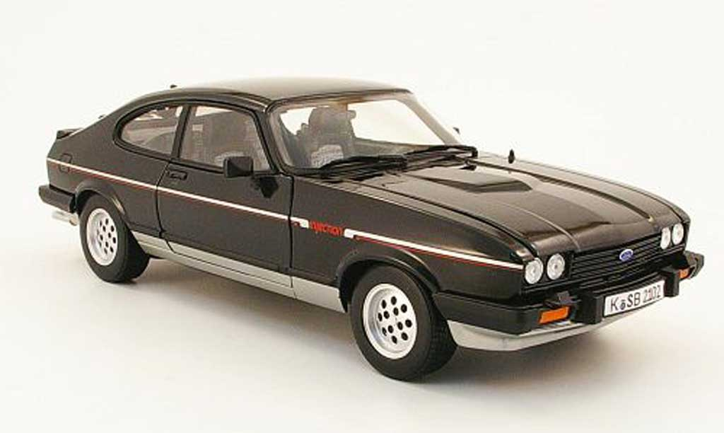 Ford Capri 1/18 Norev mk3 2.8i black/grey 1983 diecast model cars