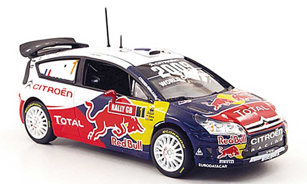 Citroen C4 WRC 2009 1/43 Norev No.1 Total Rally GB miniature