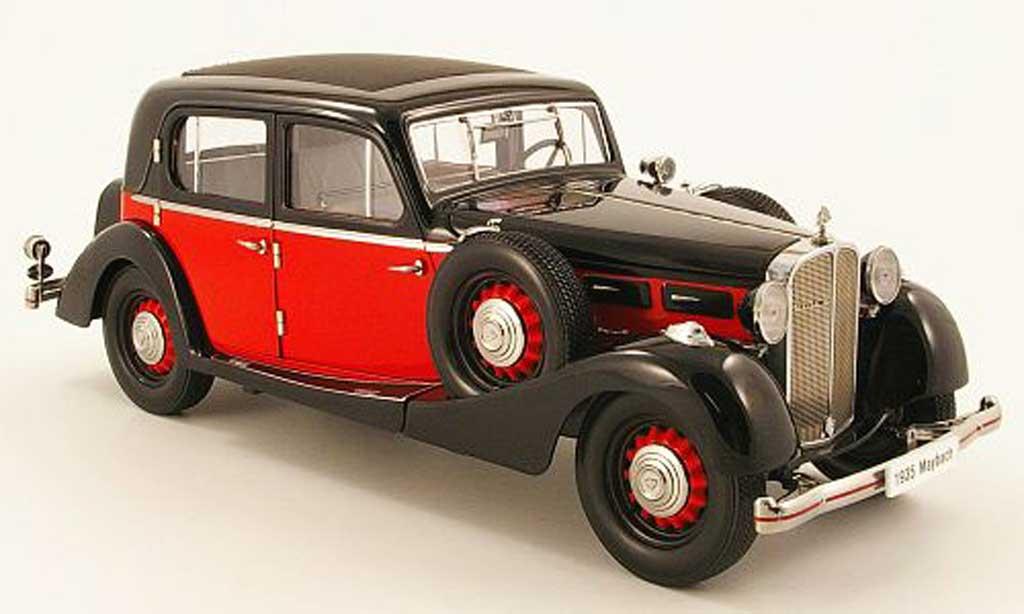 Maybach SW 1/18 Signature 35 limousine spohn rouge/noire (premium) 1935 miniature