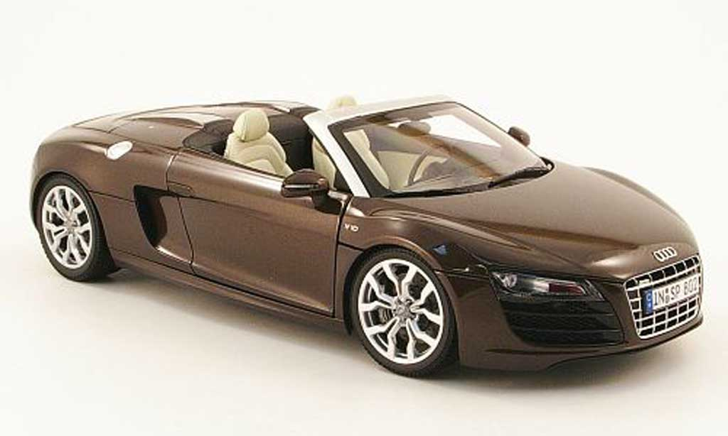 Audi R8 Spyder 1/18 Kyosho marron diecast model cars