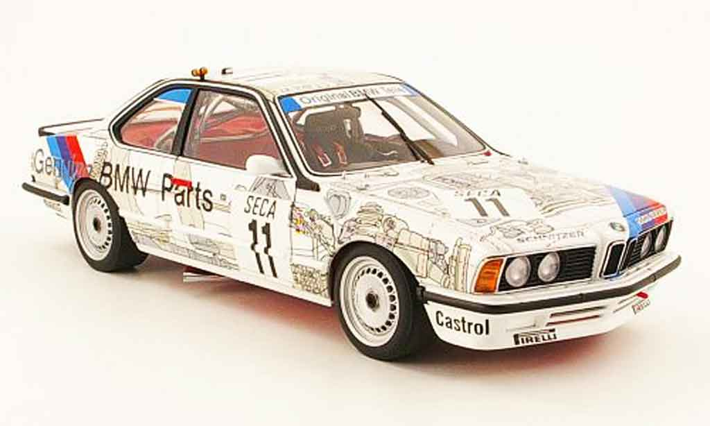 Bmw 635 CSI 1/18 Autoart m gruppe a no. 11 24h spa 1986 miniature