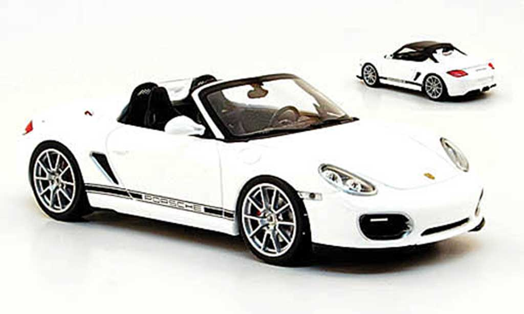 Porsche Boxster 1/43 Minichamps Spyder blanche 2010 inklusive SoftTop miniature