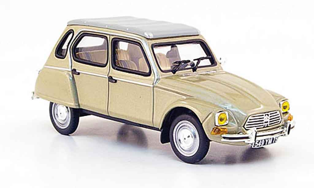 Citroen Dyane 1/43 Nostalgie 6 beige 1976 miniature