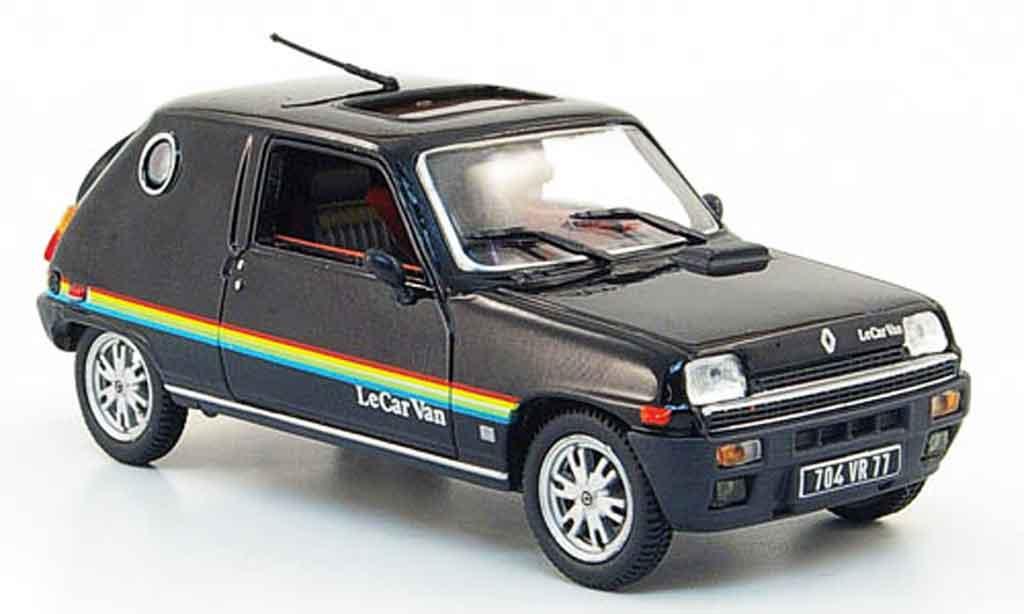 Renault 5 1/43 Nostalgie le car van noire 1979 miniature