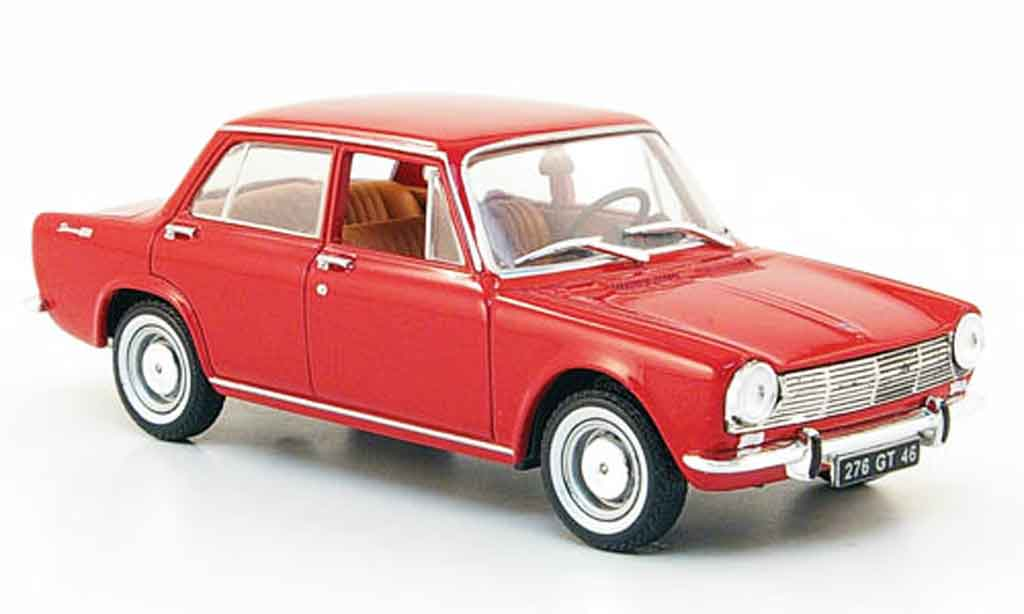 Simca 1300 1/43 Nostalgie berline red 1965 diecast