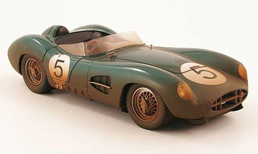 Aston Martin DBR1 1/18 Shelby Collectibles no.5 mit rennspuren sieger 24h le mans 1959 miniature