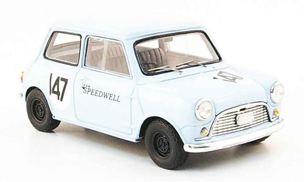Austin Mini Rallye 1/43 Spark Mini Saloon Car No.147 Team Speedwell 1960 miniature