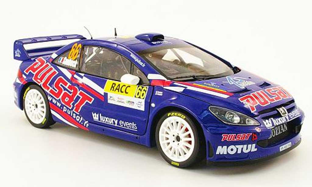 Peugeot 307 WRC 1/18 Sun Star no.66 pulsat racc rallye catalunya 2009 miniature
