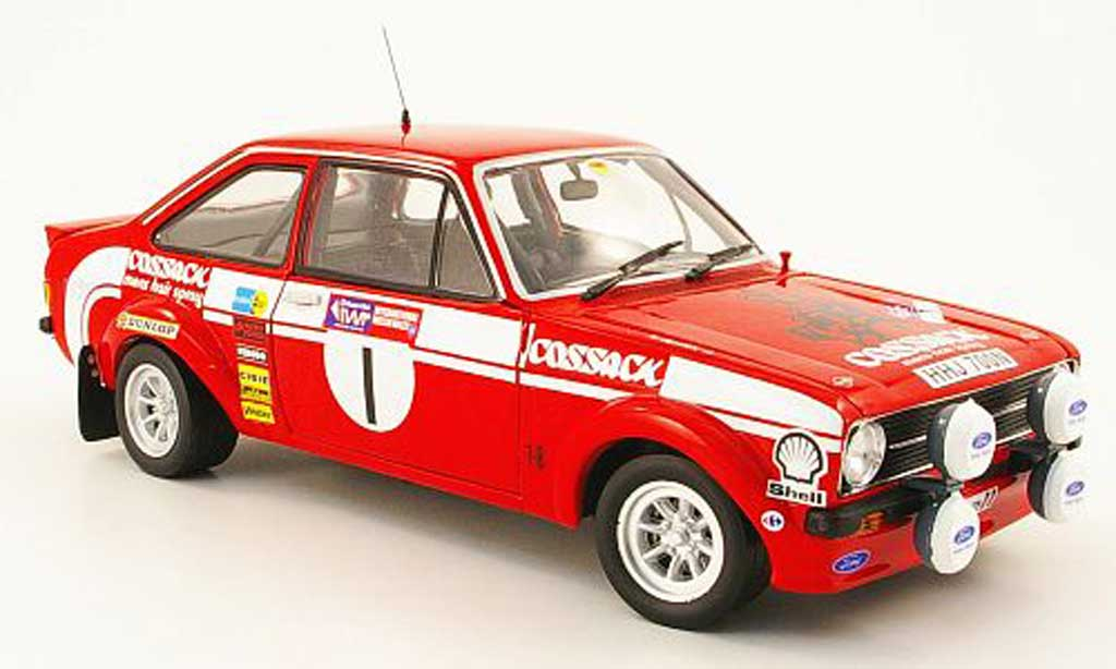 Ford Escort MK2 1/18 Sun Star no.1 cossack sieger rallye pays de galles 1975 miniature