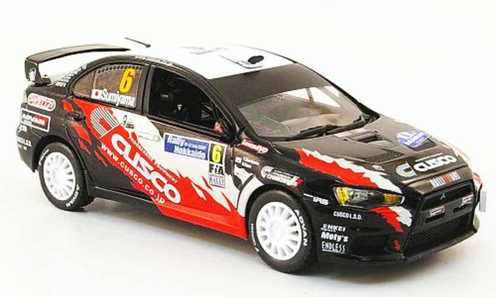 Mitsubishi Lancer Evolution X 1/43 Vitesse No.6 Sieger APRC Rally Hokkaido 2009 miniature