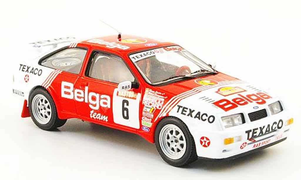 Ford Sierra Cosworth RS 1/43 IXO Cosworth No.6 Belga Sieger Rally Ypres 1988 miniature