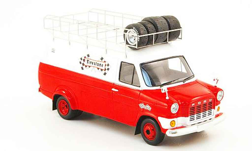 Ford Transit 1/43 Spark Firestone avec Dachbarres de toit 1972 modellino in miniatura