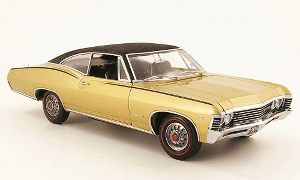 Chevrolet Impala 1967 1/18 Ertl ss or/noir miniature