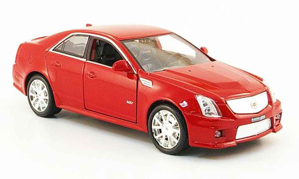 Cadillac CTS 1/43 Luxury Die Cast V rouge 2009 miniature