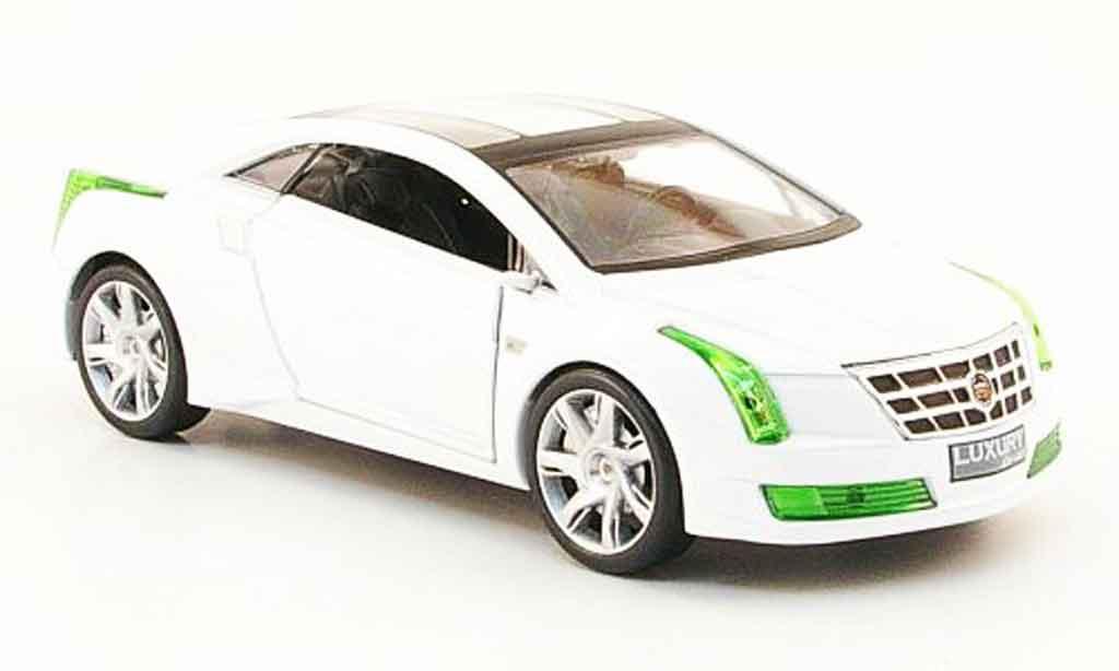 Cadillac Converj 1/43 Luxury Die Cast Concept blanche Green Edition 2009 miniature