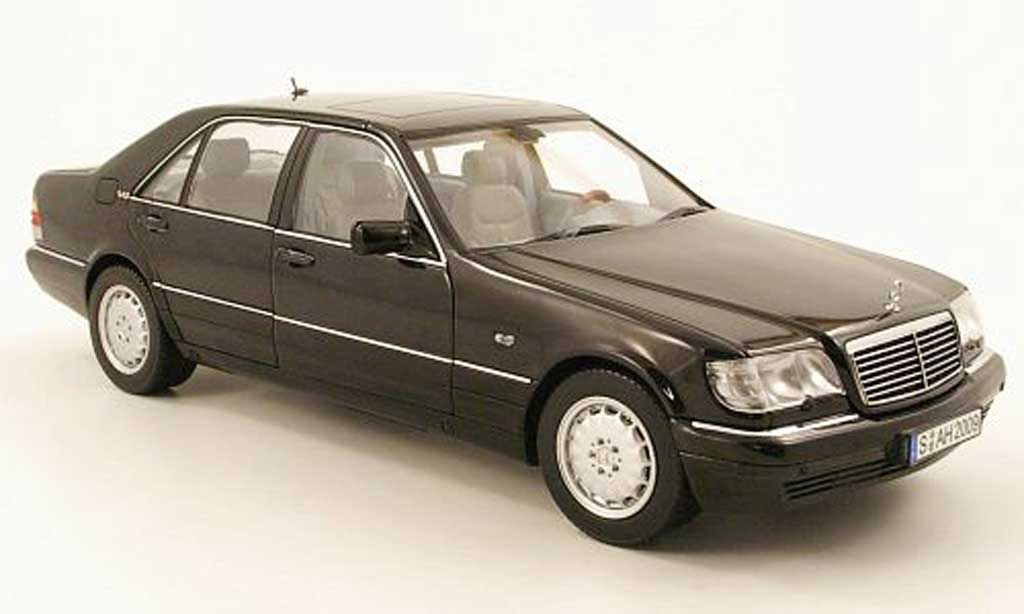 Mercedes Classe S 1/18 Norev S 600 (w140) black 1997 diecast model cars
