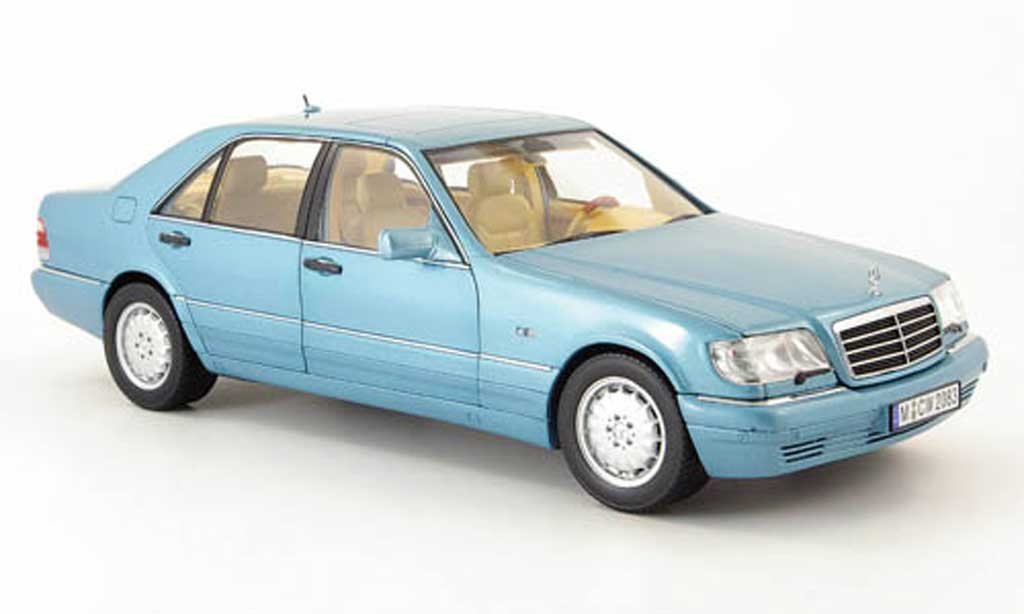 Mercedes Classe S 500 1/18 Norev 500 (w140) blue clair metallisee 1997 diecast model cars