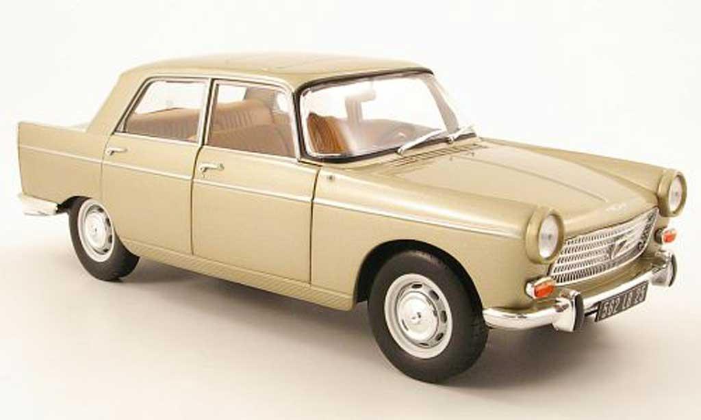 Peugeot 404 Berline 1/18 Norev beige 1965 miniature