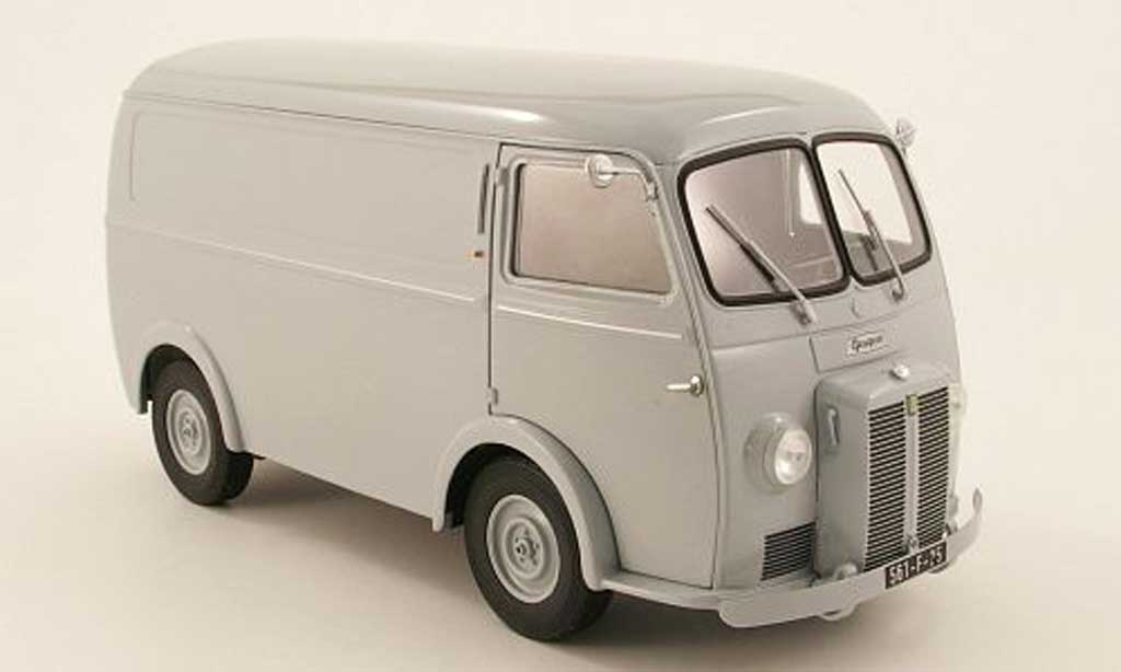 Peugeot D3A 1/18 Norev kasten grise 1950 miniature