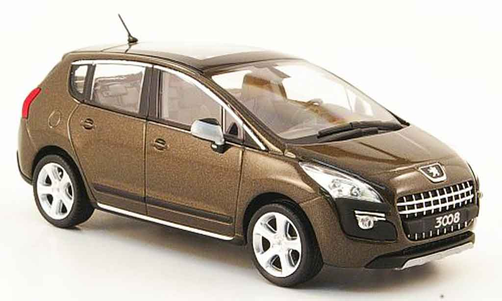 Peugeot 3008 1/43 Norev marron 2009 miniature
