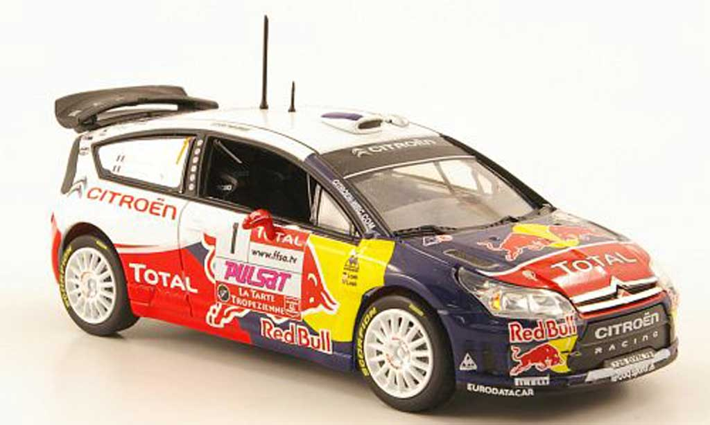 Citroen C4 WRC 2009 1/43 Norev No.1 Red Bull - Total Rallye du Var miniature