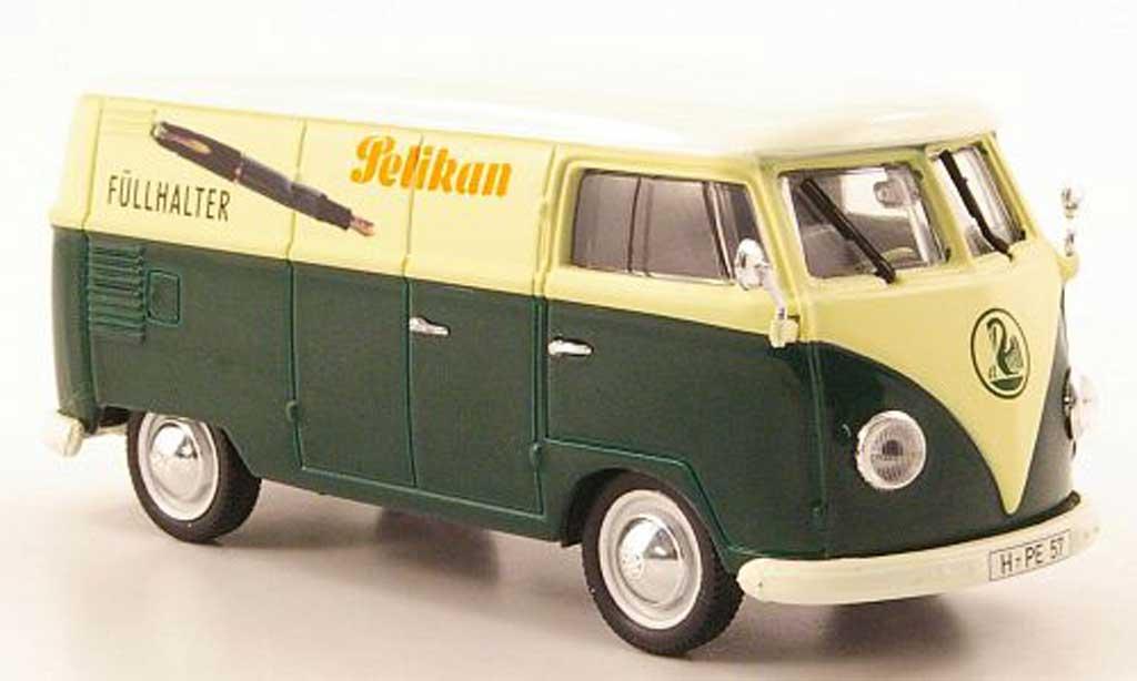 Volkswagen T1 B 1/43 Norev b Kasten Pelikan Fullhalter 1957 miniature