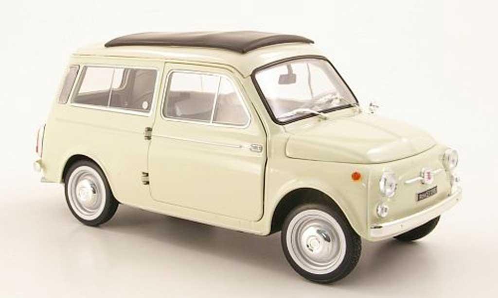 Fiat 500 1/18 Norev Giardinera beige 1960 diecast model cars
