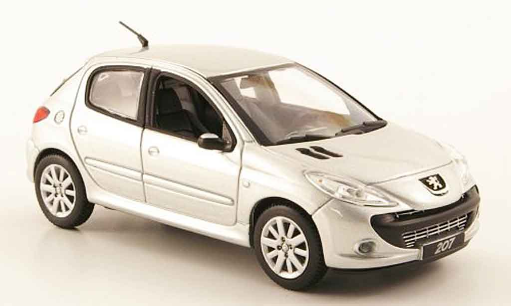 Peugeot 207 1/43 Norev grise metallisee 5 portes 2008 miniature