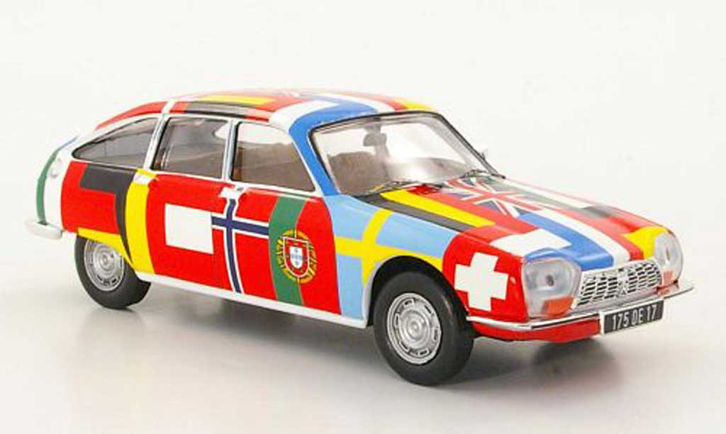 Citroen GS 1/43 IXO Voiture sans Frontieres 1971 miniature