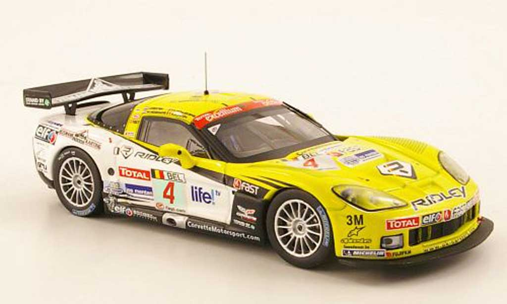Chevrolet Corvette C6 1/43 IXO No.4 Ridley FIA GT 24h Spa 2009 diecast model cars