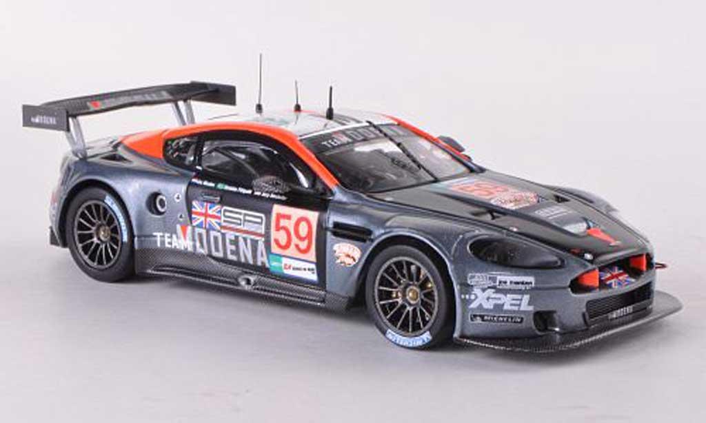 Aston Martin DBR9 1/43 IXO No.59 Team Modena 24h Le Mans 2008 Ch.Fittipaldi/T.Borcer/J.Menten miniature