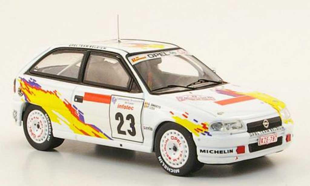 Opel Astra 1/43 IXO F GSI 16V No.23 Rally Korsika 1995 modellino in miniatura